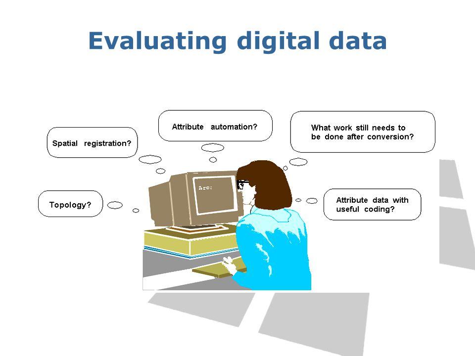 Evaluating digital data