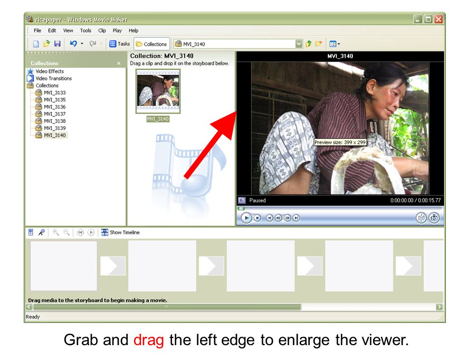 Grab and drag the left edge to enlarge the viewer.