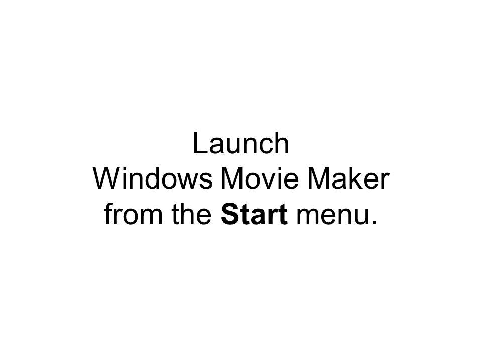 Windows Movie Maker Introduction to Video Editing Mindy McAdams http://mindymcadams.com/
