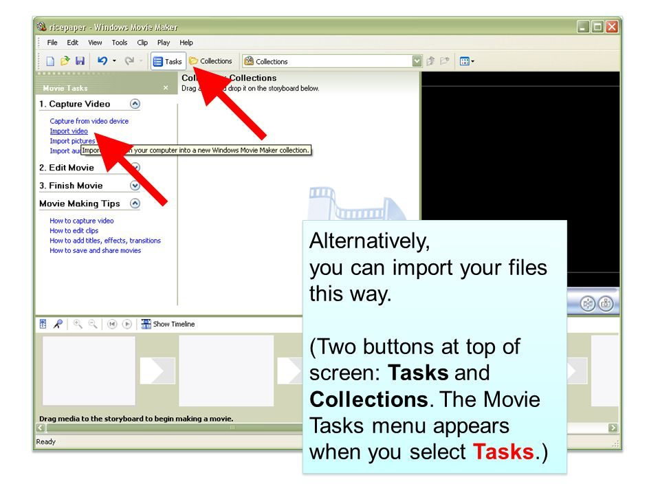 Be careful to note where you save it. Saving the movie file: Step 3
