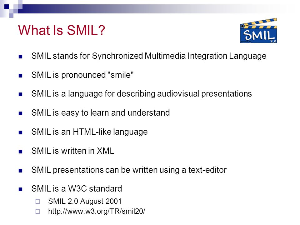 What Is SMIL.