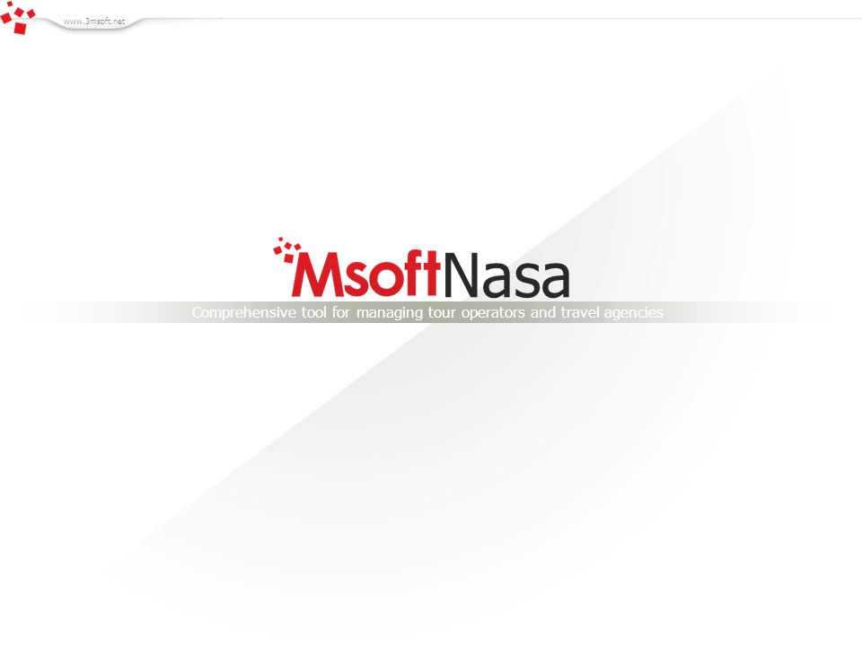 Nasa Comprehensive tool for managing tour operators and travel agencies www.3msoft.net