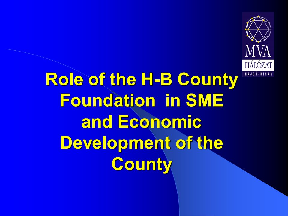 Role of the H-B County Foundation in SME and Economic Development of the County