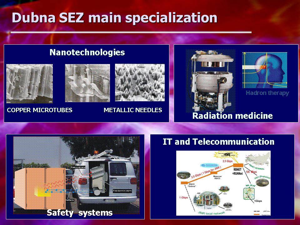 Dubna SEZ main specialization Dubna SEZ main specialization