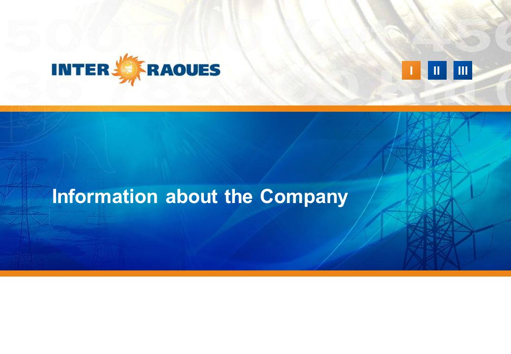 IIIIII Information about the Company