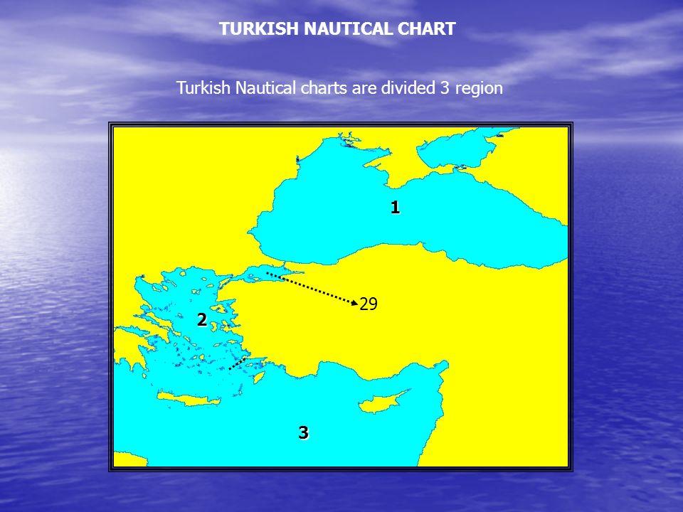 TURKISH NAUTICAL CHART Turkish Nautical charts are divided 3 region 1 2 3 29