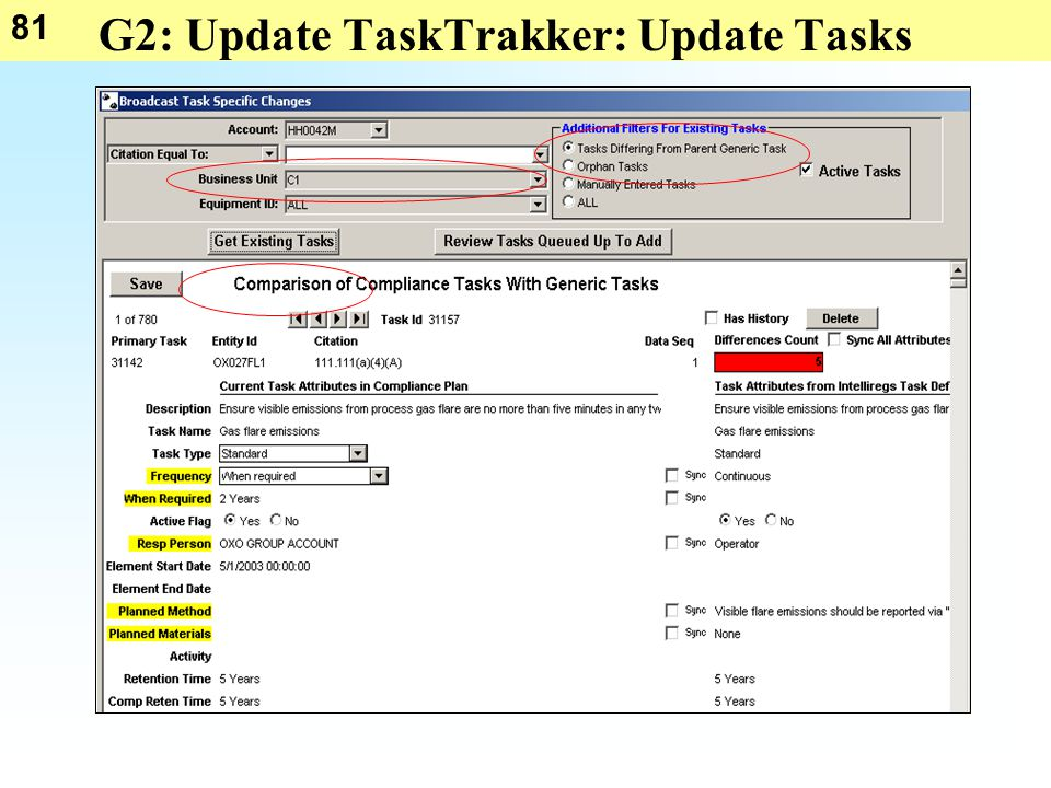 81 G2: Update TaskTrakker: Update Tasks