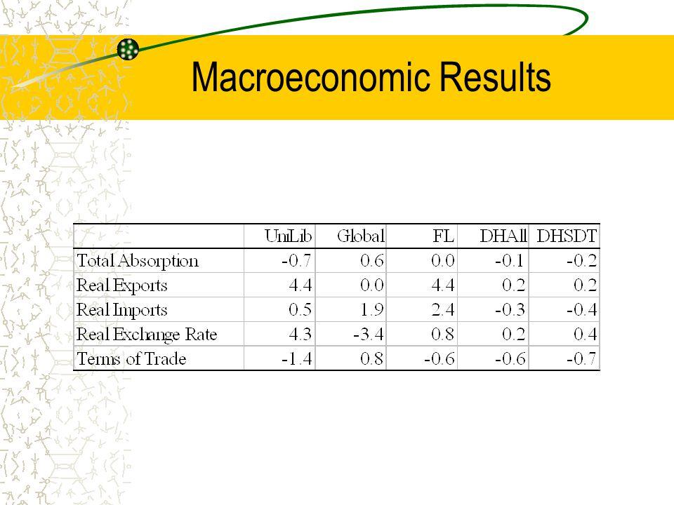 Macroeconomic Results