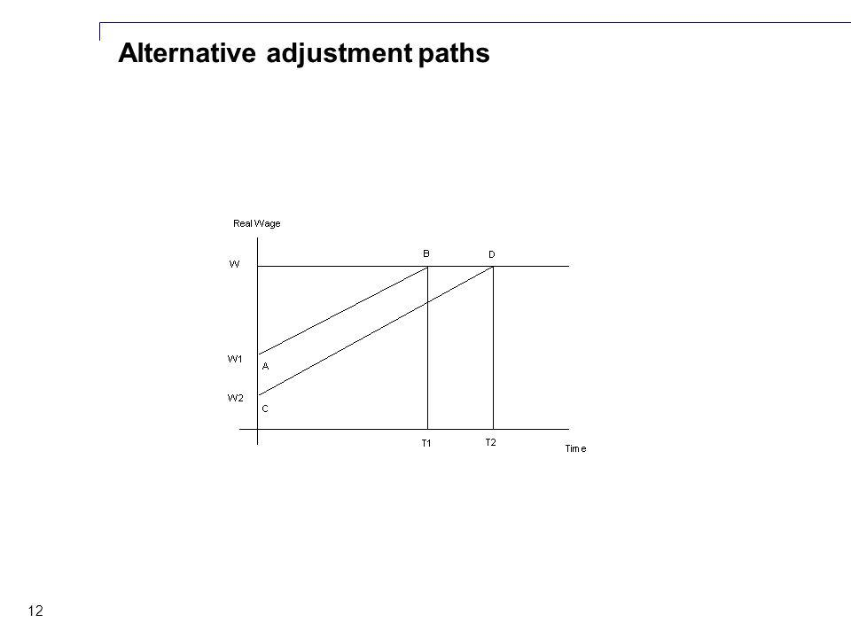 12 Alternative adjustment paths