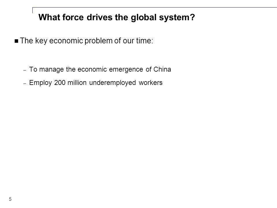 5 What force drives the global system.