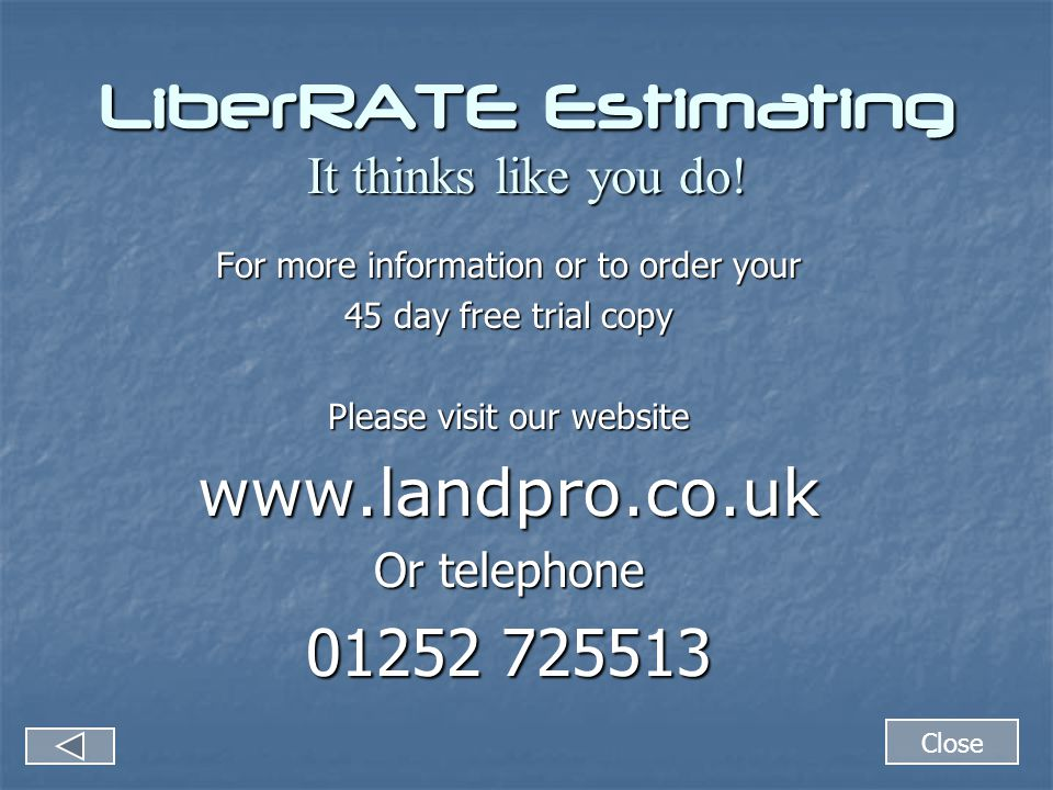 LiberRATE Estimating It thinks like you do.