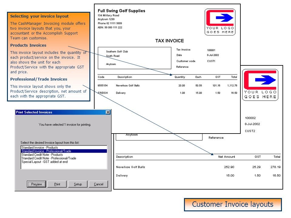 Easysearch on Customers and Products Entering Customer Invoices Easysearch on Customer and Product Code Using easysearch, you can select the Customer