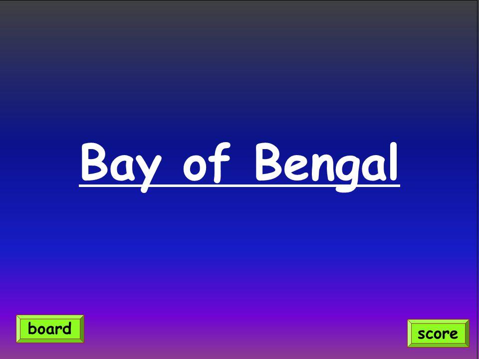 Bay of Bengal score board