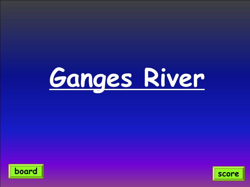 Ganges River score board