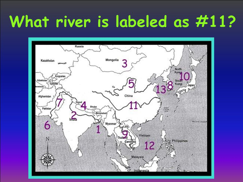 What river is labeled as #11