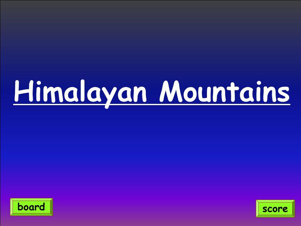 Himalayan Mountains score board