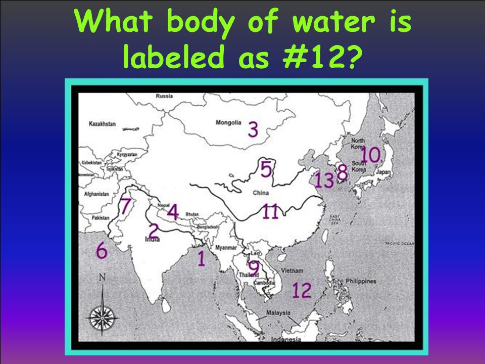 What body of water is labeled as #12