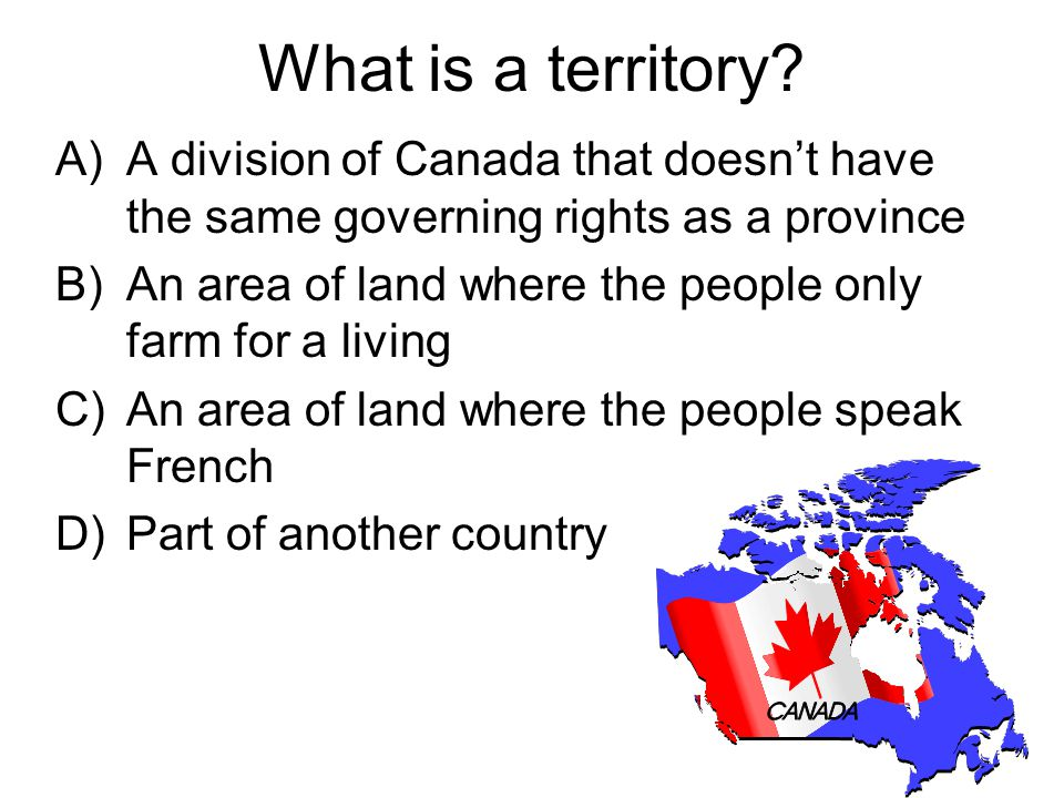What is a territory.