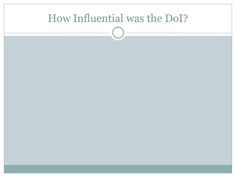 How Influential was the DoI