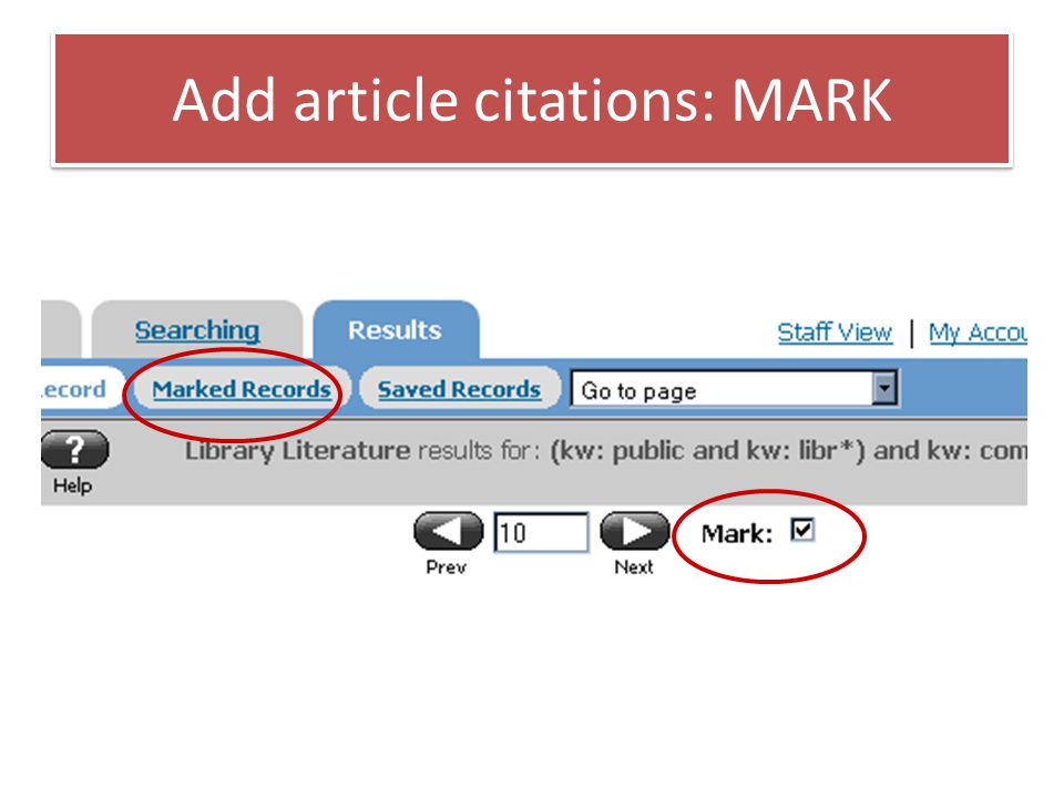 Add article citations: MARK