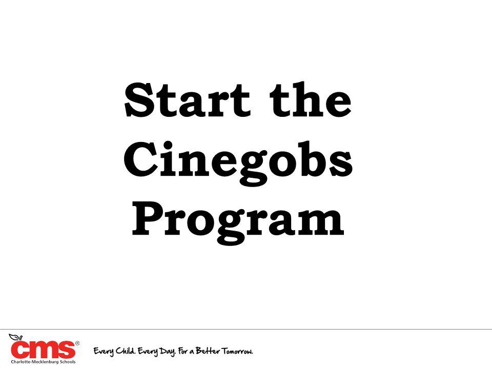 Start the Cinegobs Program