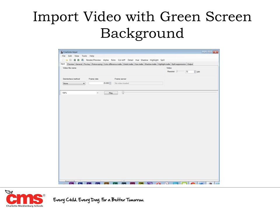 Import Video with Green Screen Background
