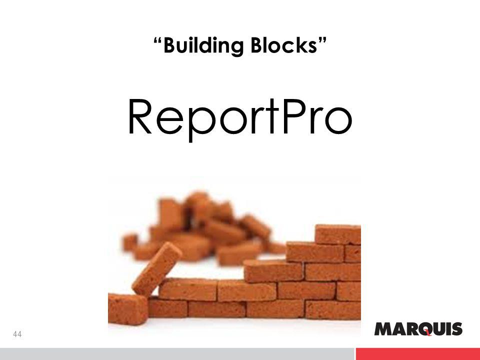 Building Blocks ReportPro 44