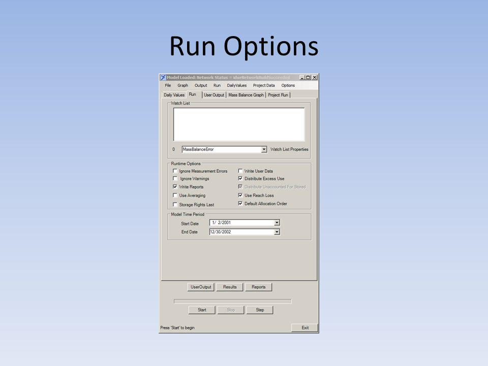 Run Options