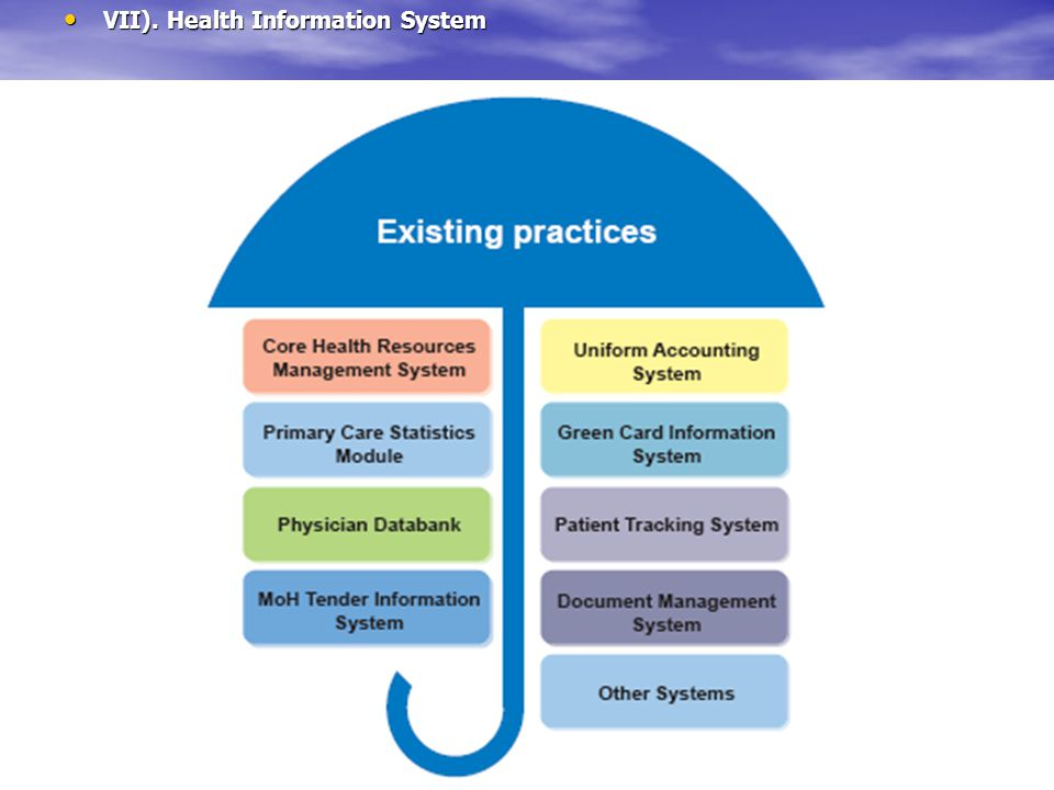 VII). Health Information System VII). Health Information System
