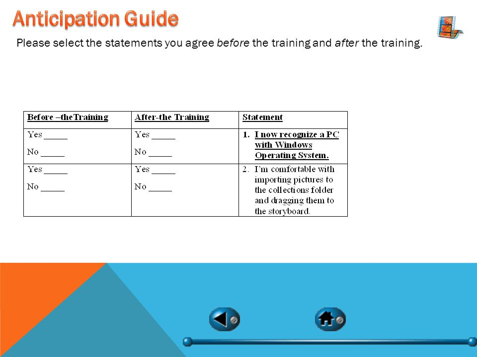 Please select the statements you agree before the training and after the training.