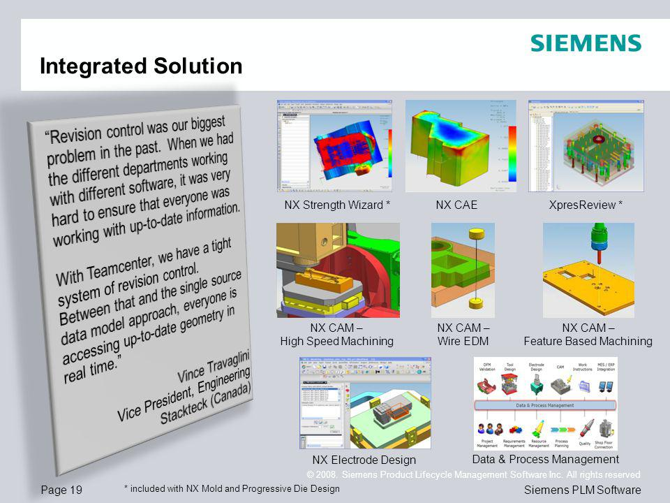 Page 19 © 2008. Siemens Product Lifecycle Management Software Inc.