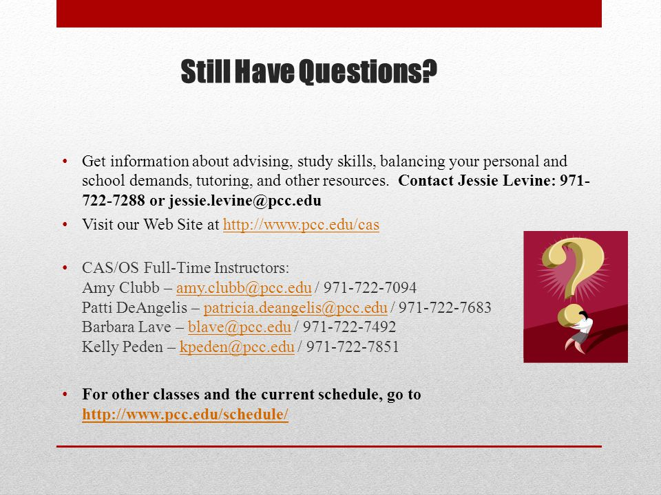 Get information about advising, study skills, balancing your personal and school demands, tutoring, and other resources.