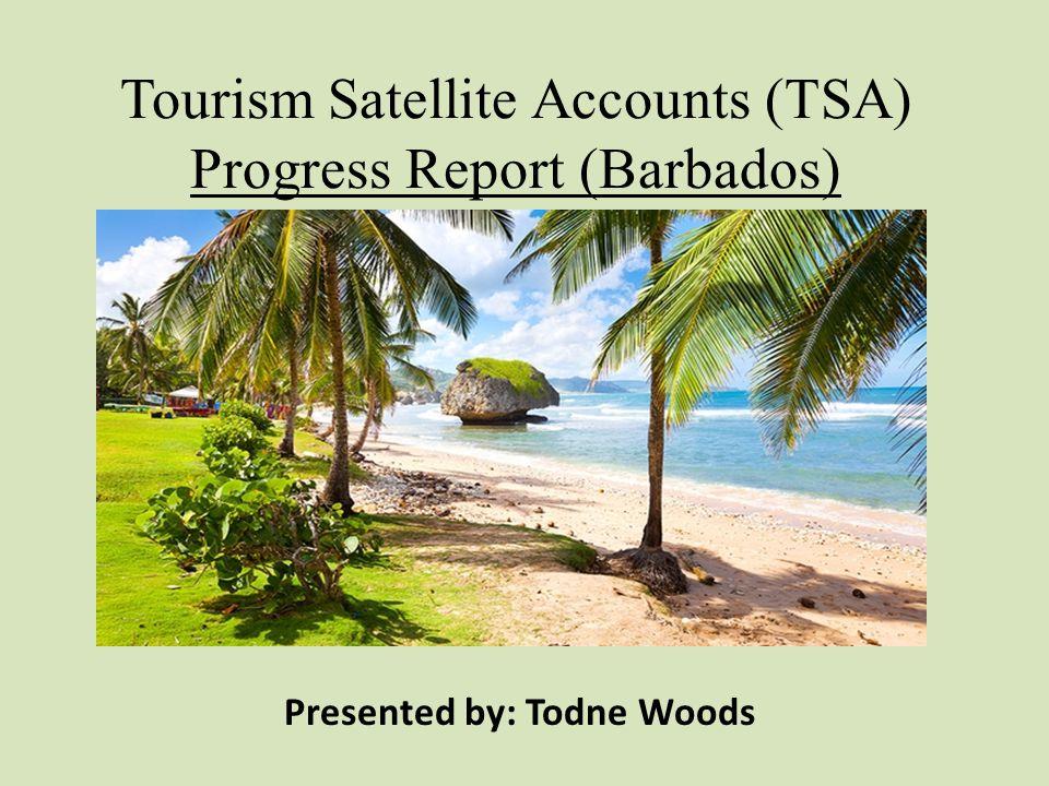 Tourism Satellite Accounts (TSA) Progress Report (Barbados) Presented by: Todne Woods