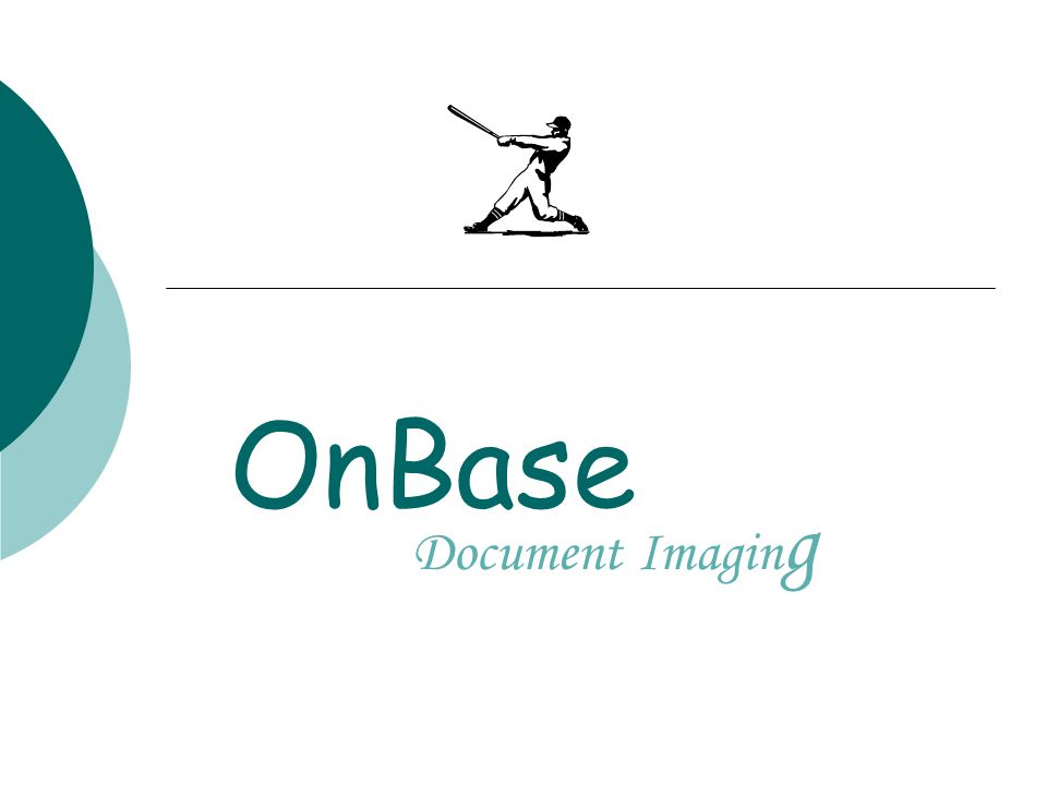 OnBase at IU  1999 Physical Plant began using OnBase as document management system Storage and retrieval of documents  2002 IUPUI Undergraduate Admissions and International Affairs wanted to go paperless Decided to use OnBase as their document management system Matrix Imaging (now part of Hyland Software the developers of OnBase) consulted with both Admissions departments and helped implement a Workflow process for their documents  2002-2003 Accounts Payable decided to use OnBase to store AP documents Using Docpop functionality to pop up documents stored in OnBase through EPIC and FIS  Present 40 departments currently use OnBase Used by departments at all regional campuses 5 departments use the Workflow module for document processing 3 departments use the docpop functionality