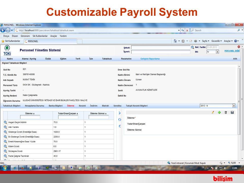 Customizable Payroll System