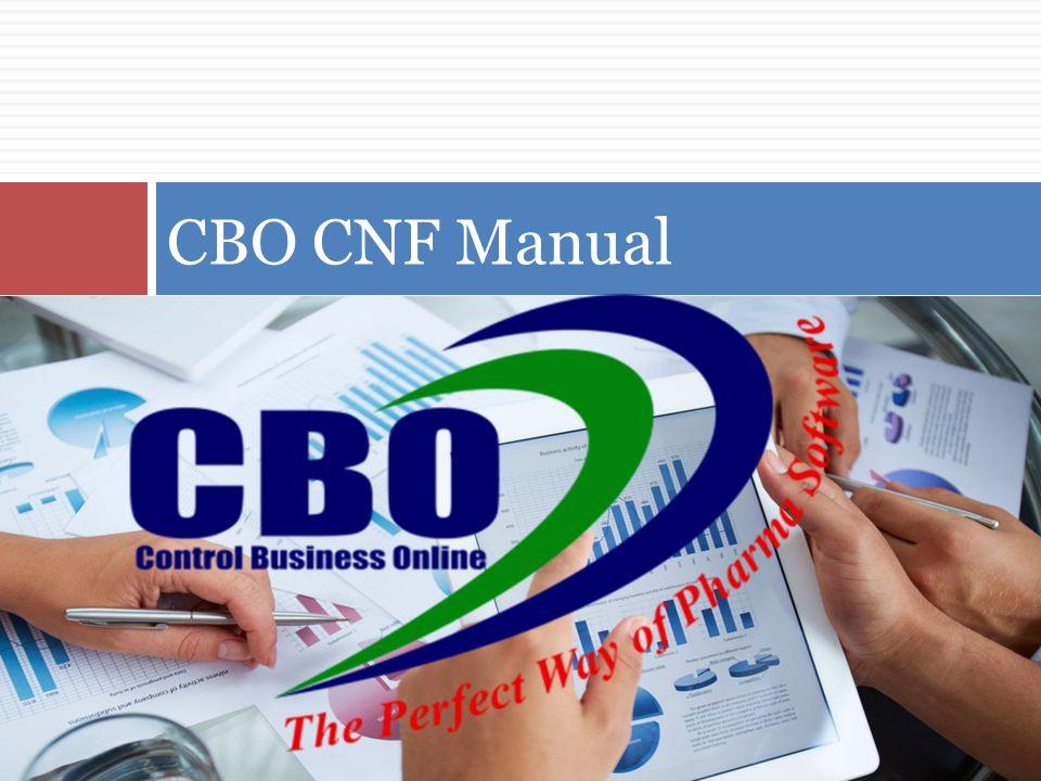 CBO CNF Manual