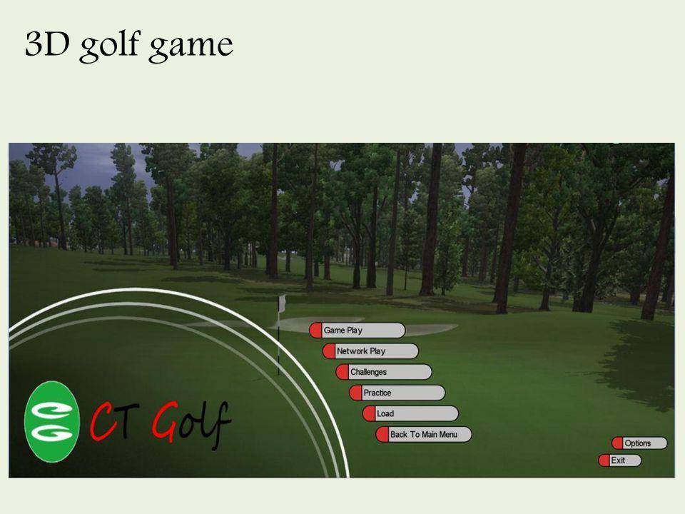 3D golf game