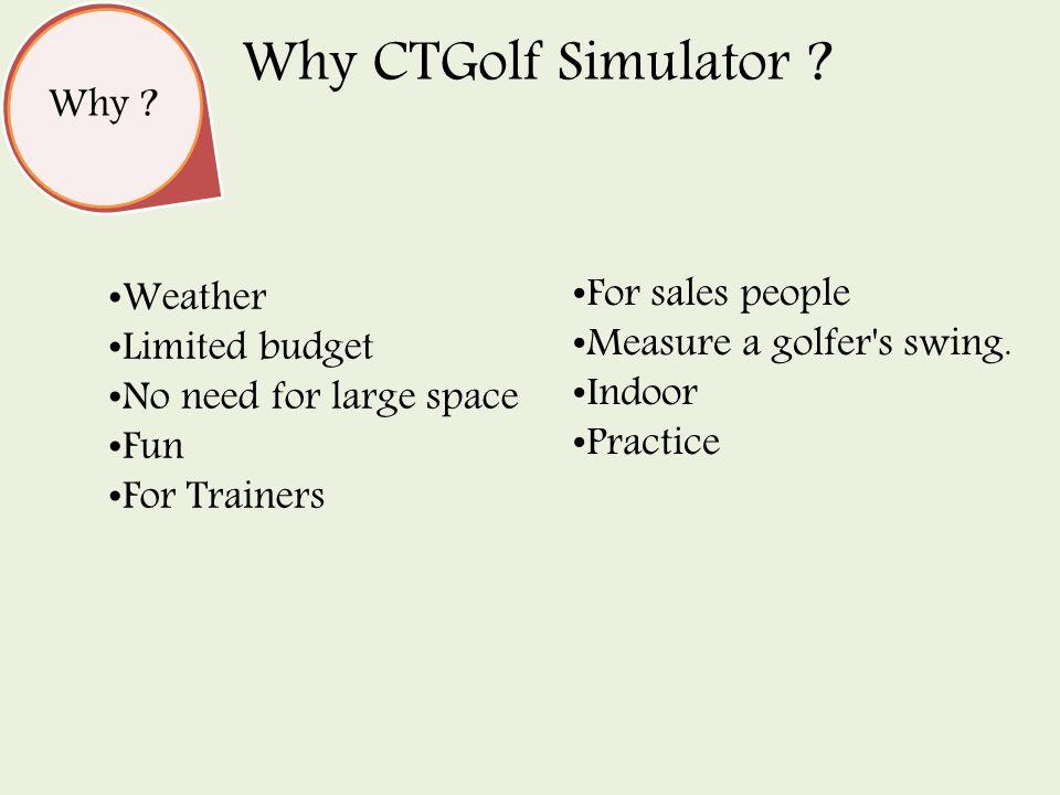 Why . Why CTGolf Simulator .