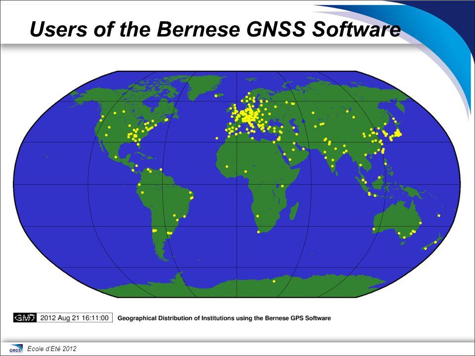 Ecole d'Eté 2012 Bernese GNSS Software, Version 5.2 microwave solution for GNSS satellites SLR solution for LAGEOS/ETALON GNSS stationsSLR stations GNSS satellite orbit LAGEOS/ETALON orbit ERP/geocenter solution specific parameters