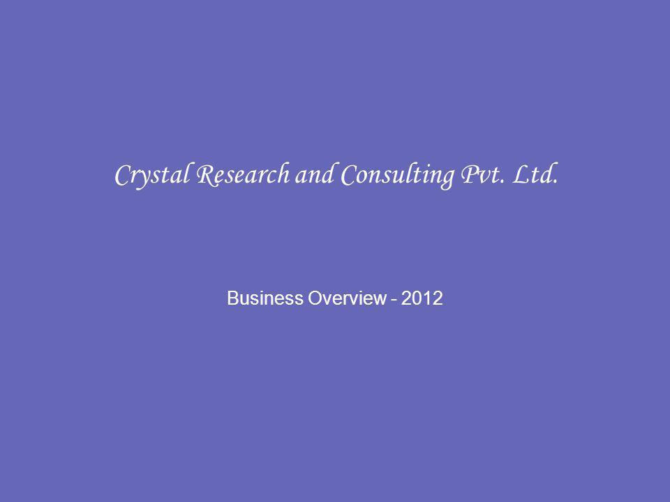 Crystal Research and Consulting Pvt. Ltd. Business Overview - 2012