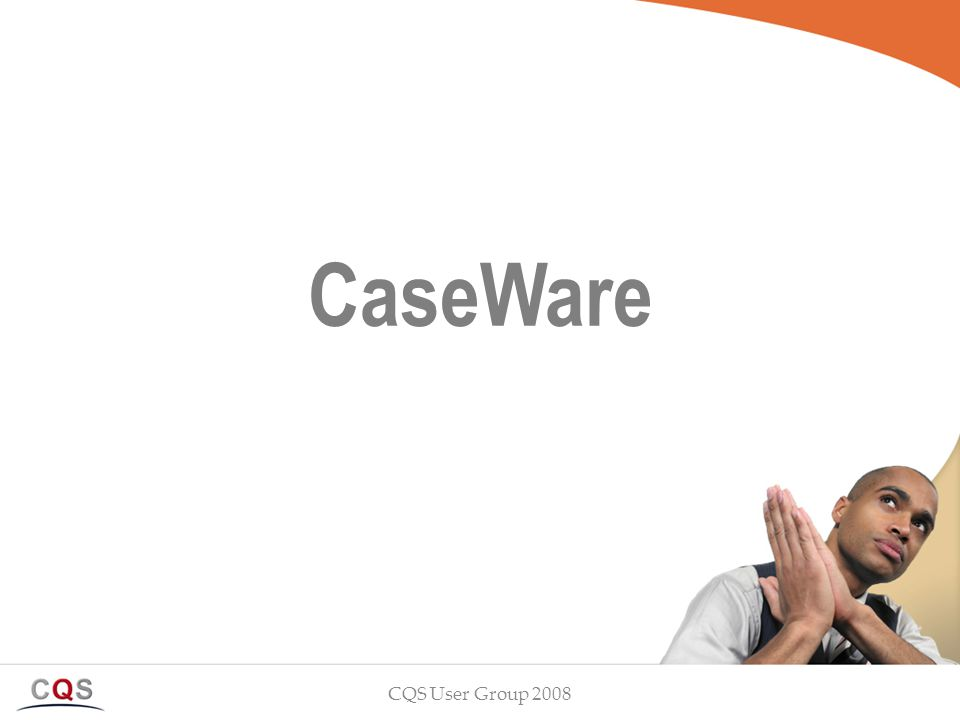 CaseWare CQS User Group 2008