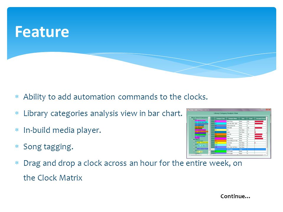  Ability to add automation commands to the clocks.