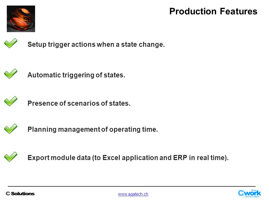 Setup trigger actions when a state change. Automatic triggering of states.