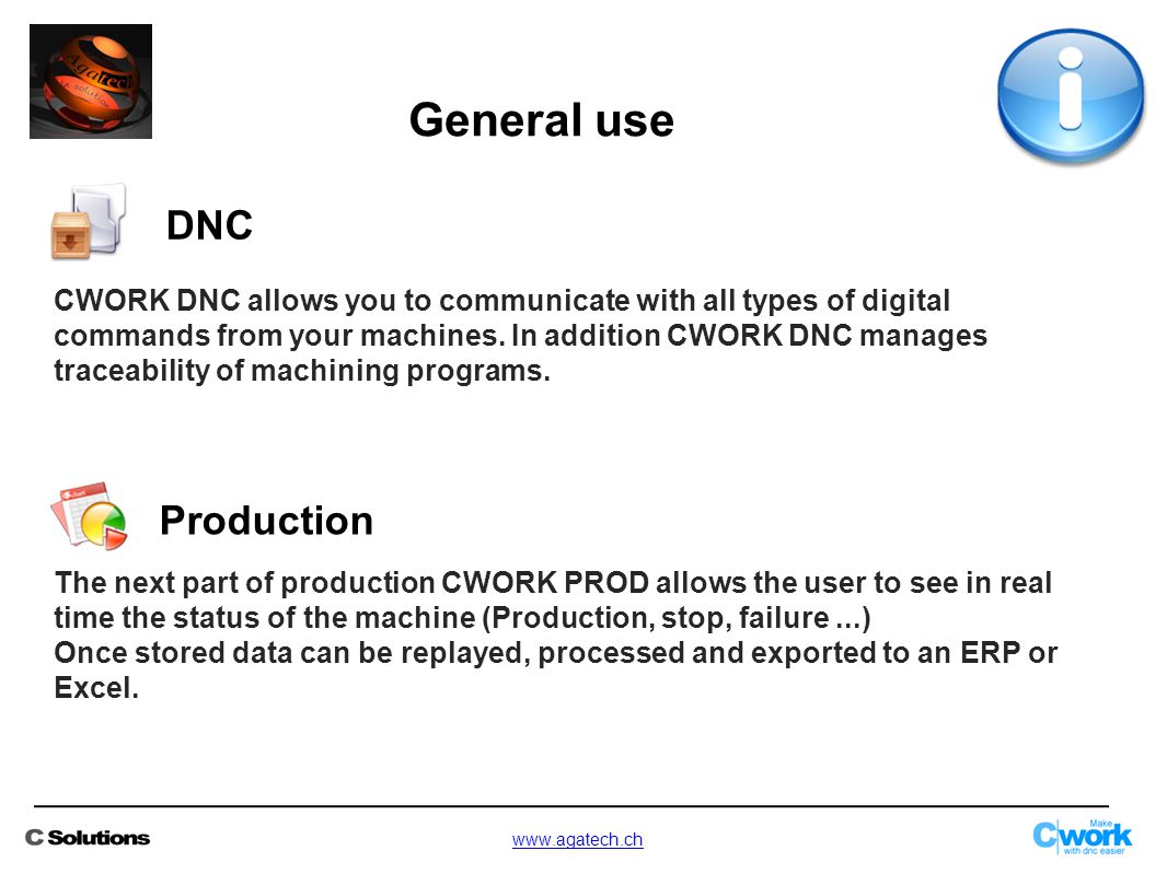 CWORK DNC allows you to communicate with all types of digital commands from your machines.