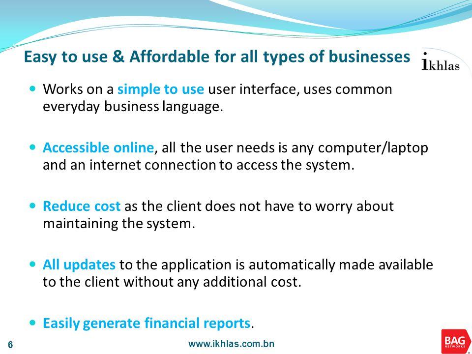 www.ikhlas.com.bn 37 Settings Features Simple PDF Document Theme Edits Asset Register - Depreciation