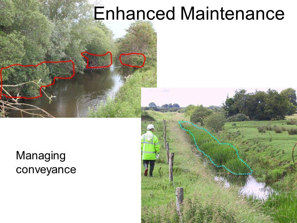 Enhanced Maintenance Managing conveyance