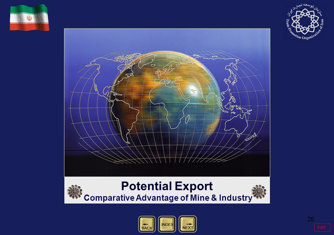 26 Potential Export Comparative Advantage of Mine & Industry EXIT