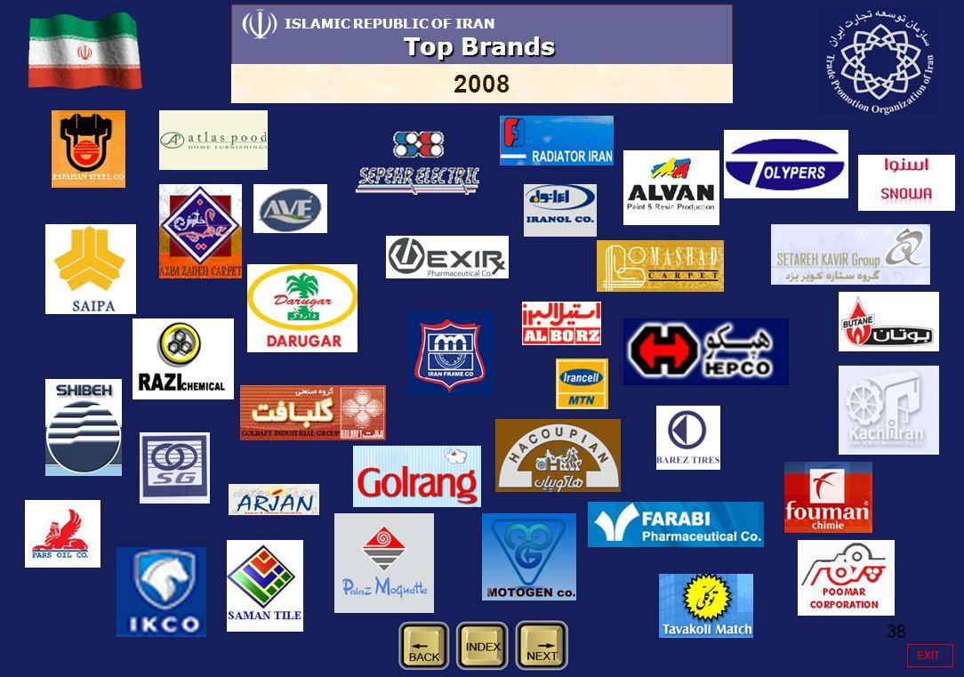 38 ISLAMIC REPUBLIC OF IRAN Top Brands 2008 EXIT