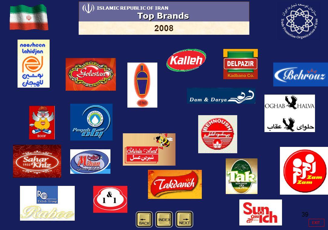 39 ISLAMIC REPUBLIC OF IRAN Top Brands 2008 EXIT