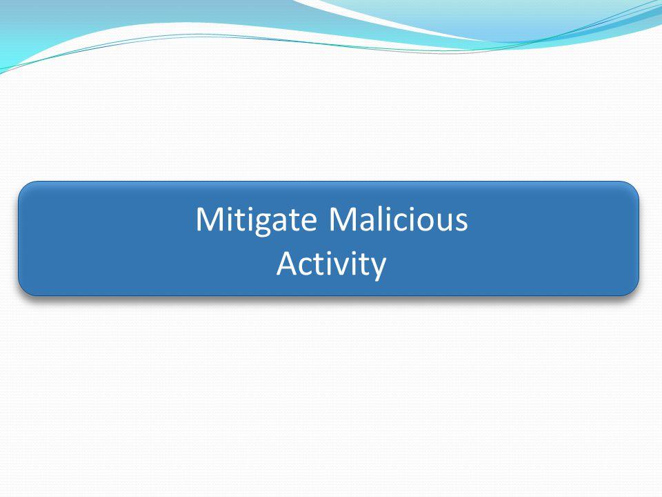 Mitigate Malicious Activity